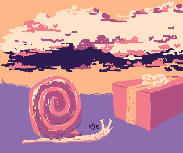 Giant snail sees gift