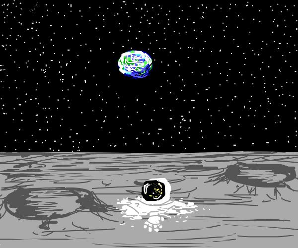 Melting man on the Moon