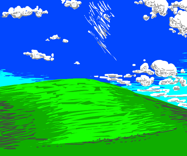 Windows XP Background (The one with the hill)