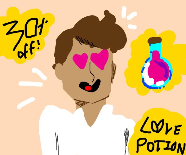 a love potion advertisement