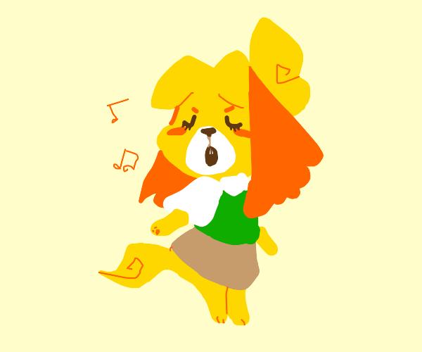 Isabelle singing bubblegum k.k