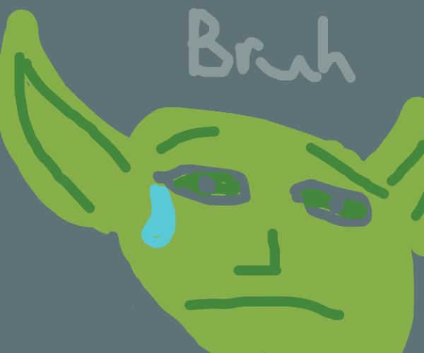 sad elf goblin