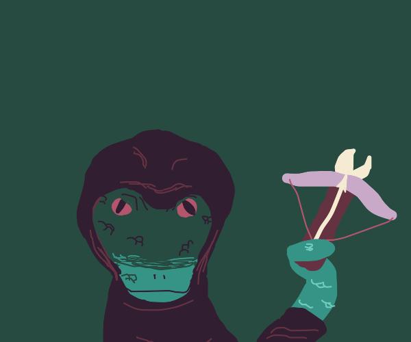 Rogue snake, wielding a crossbow
