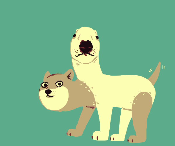 Cerberus but it's Walter and doge