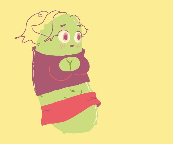 kawaii anime girl pickle