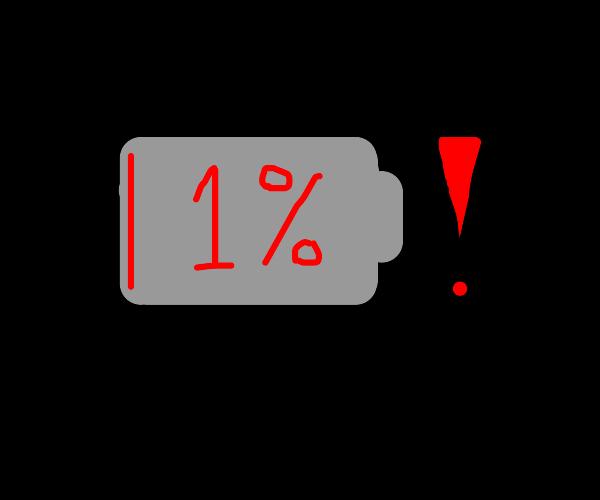1 percent left