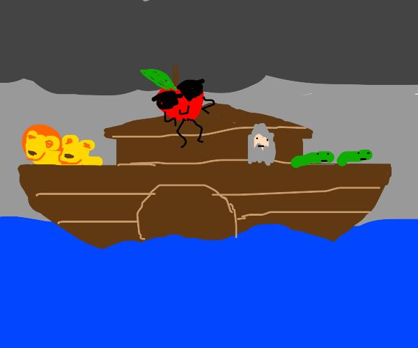 boss apple on Noah's Ark