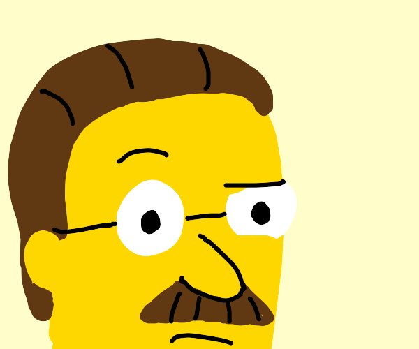 Ned Flanders suspiciously watching you