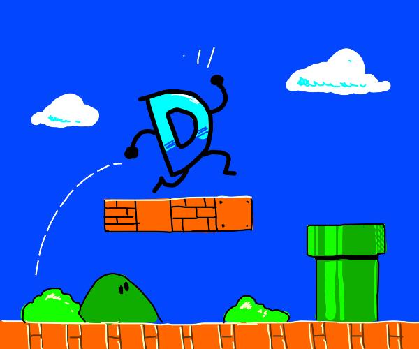 Drawception D in Mario