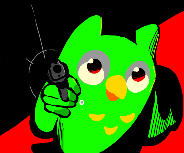 the duolingo bird is coming for you