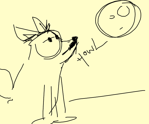 werewolf howling at moon