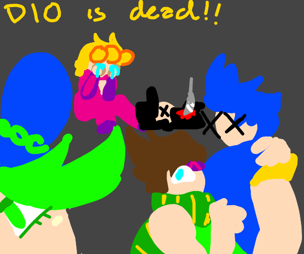 the jojos celabrate dio's death