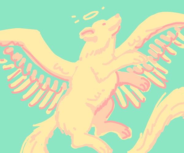 angel puppy w/ long tail