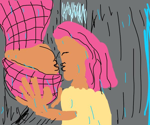 Spiderman Kissing Mary Jane But Flipped Drawception