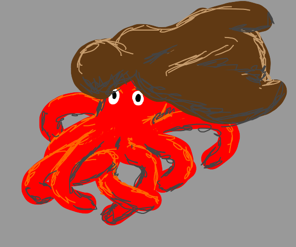 Octopus with nice hair