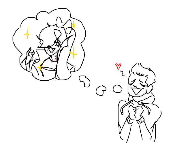 Boy Likes Shiny Vampire Girl