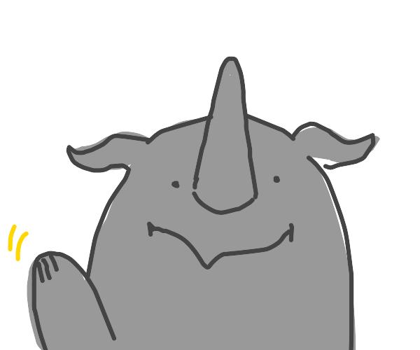 rhino saying hi