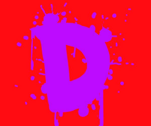 Paint splatter'd D