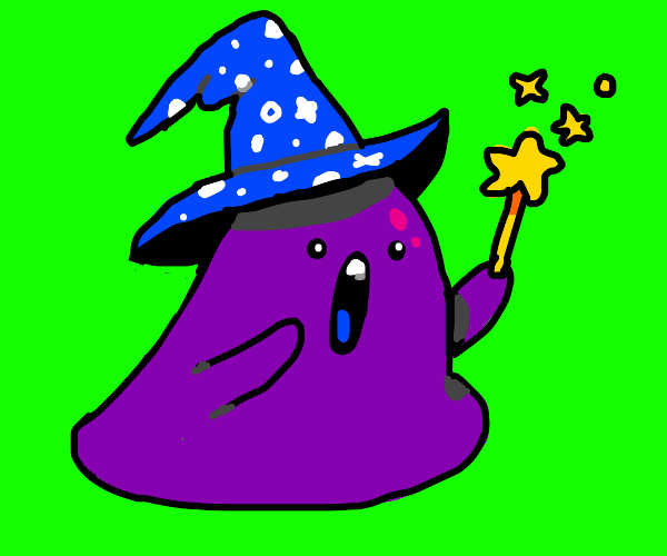 Purple wizard blob