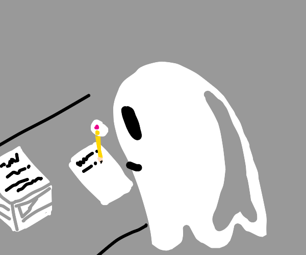 Ghost writing a book