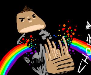 Guy krate chops rainbow
