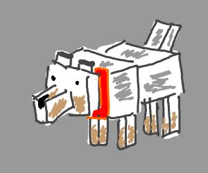 A minecraft wolf