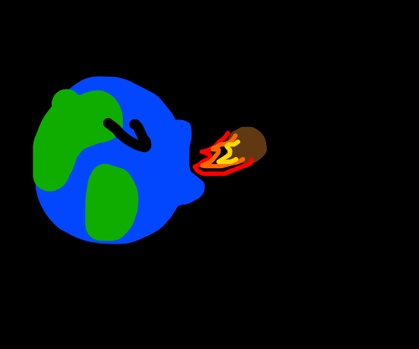 Earth spits out an asteroid