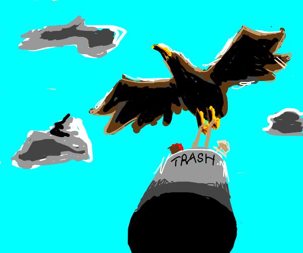 Trash eagle