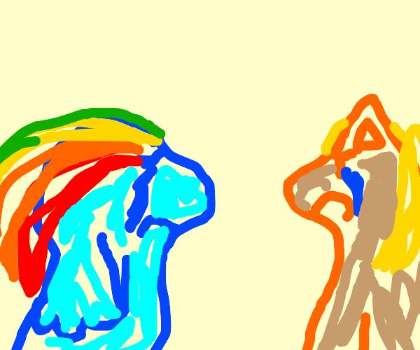 sad applejack & rainbow dash