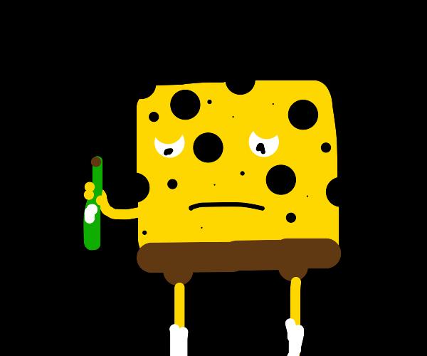 SpongeBob becomes an alcoholic