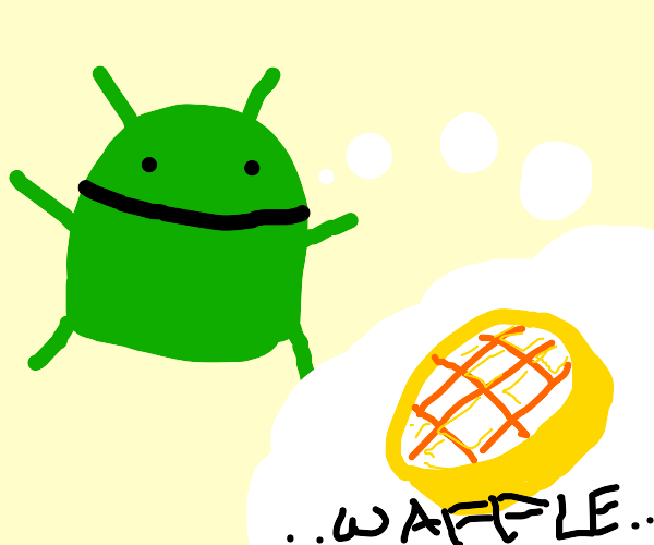 android wants waffle