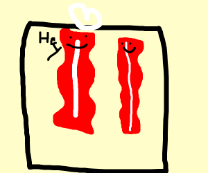 Bacon meets buddy in package