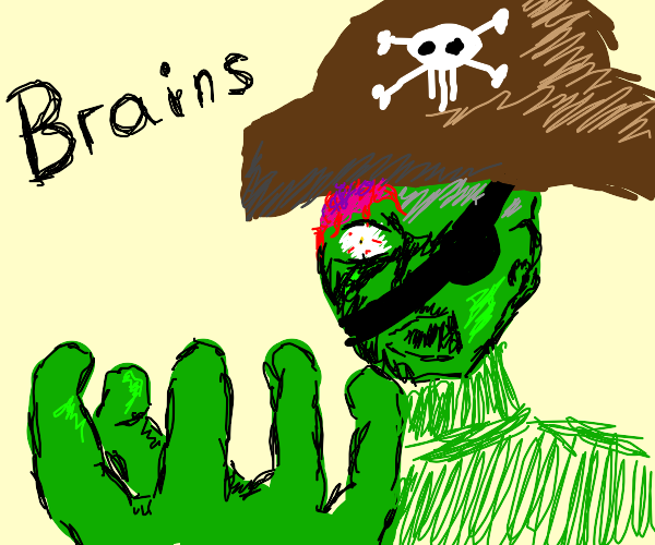 zombie pirate wants your brains