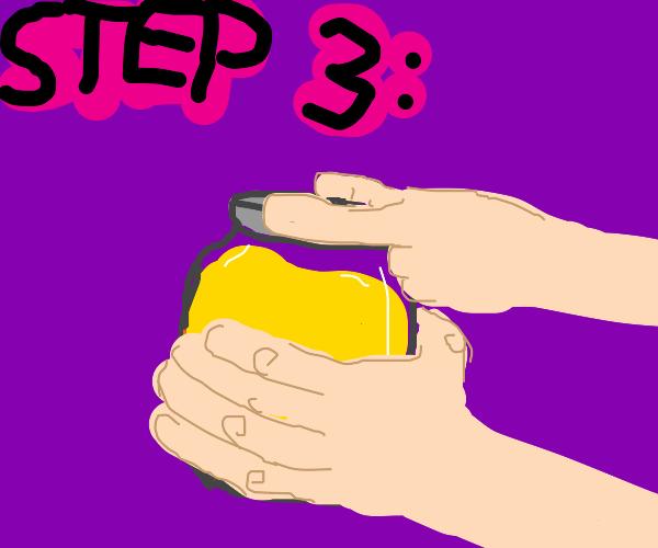 step 3: open the honey jar