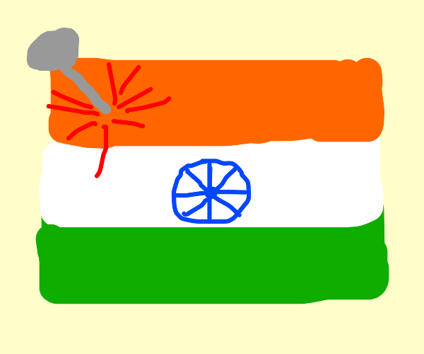 India got stabbed by a nail.