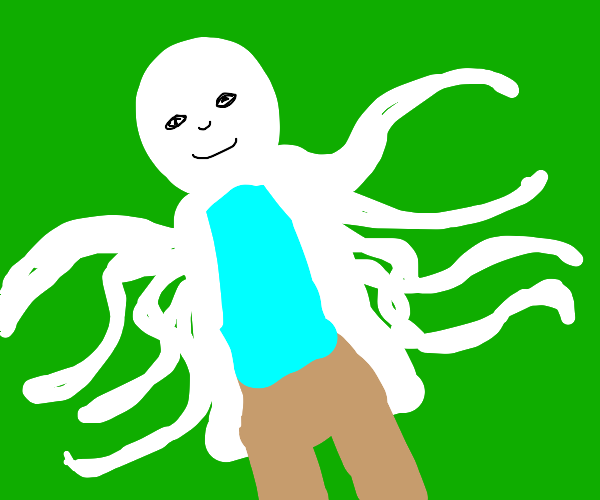 white octopus man(with lab coat)