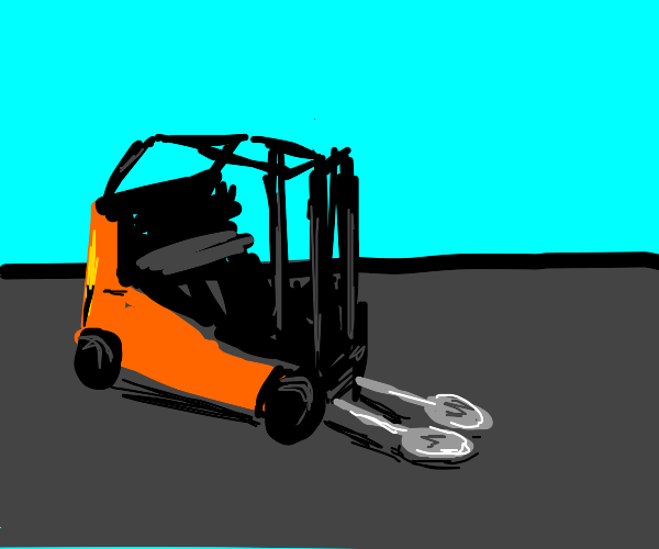 Forklift, but it has spoons.