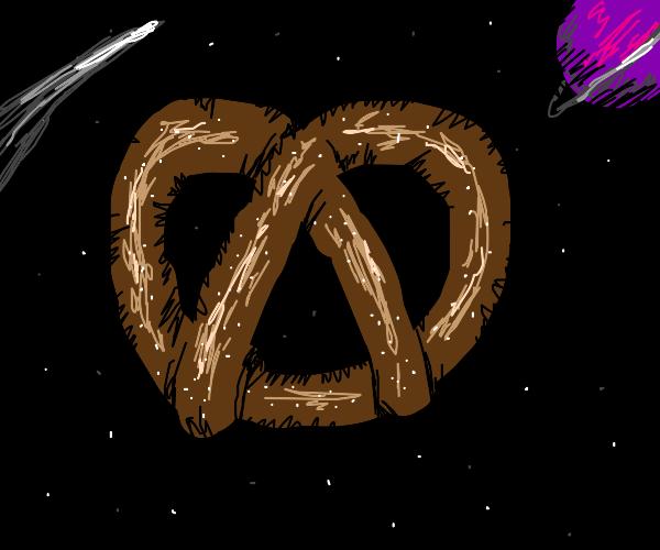 pretzel in space