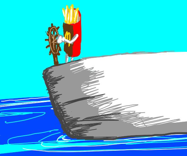 Mcdonalds Fries on Ship