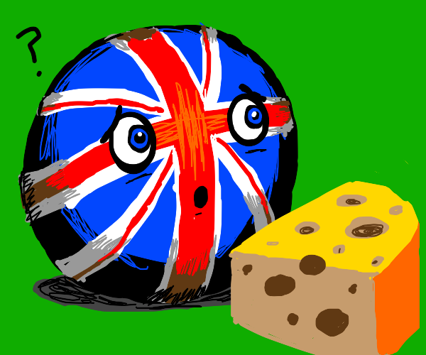 Britainball confused by cheese