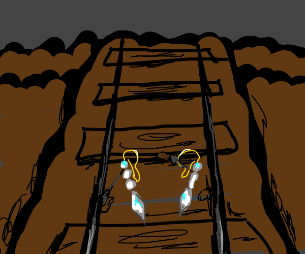 Earrings digging into the Tracks