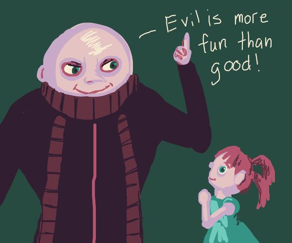Gru teachs a girl the most important lesson e