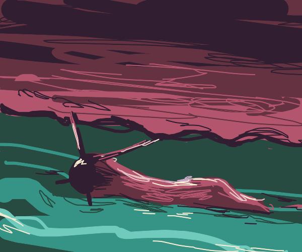 slug in a river