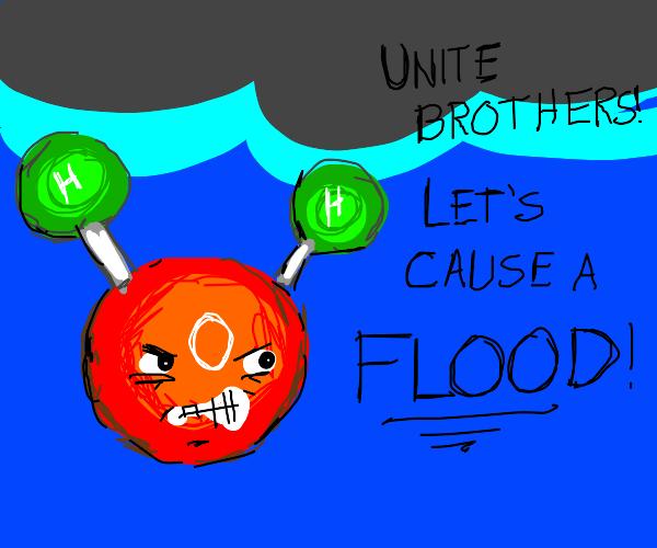 Murderous water molecule