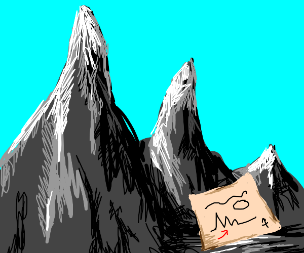 Map in the mountains