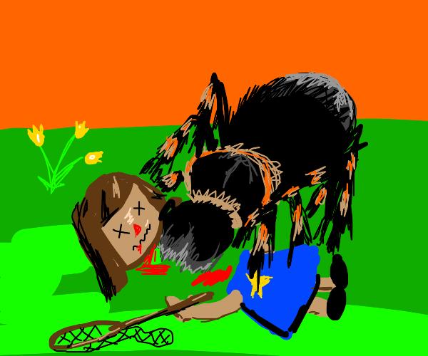 Acnh player killed by tarantula