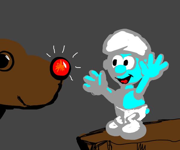 rudolph meets a smurf
