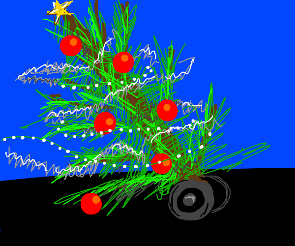 Christmass tree with wheels