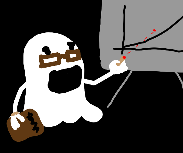 Ghost with a Laser Pointer