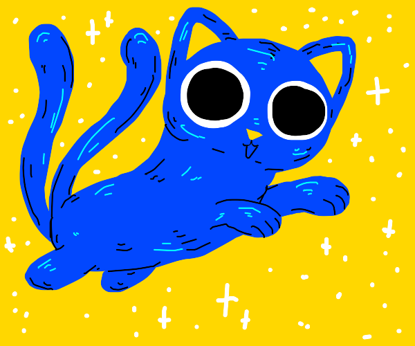 Blue cat with 2 tails
